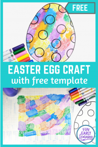 Easter Crafts for Kids! Fun and easy Easter Egg craft with free printable / free template to DIY and to make. Fun and simple art project for preschool, kindergarten, and elementary.