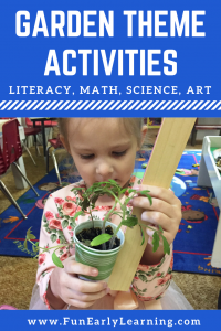 Fun Garden Theme activities for math, letters, science, writing and crafts / art projects! Great learning activities for for kids  in preschool and kindergarten!