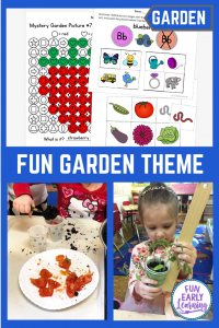 Fun Garden Theme Activities for Kids, Preschool, and Kindergarten! Teach letters, phonics, numbers, counting, science experiments, and crafts!