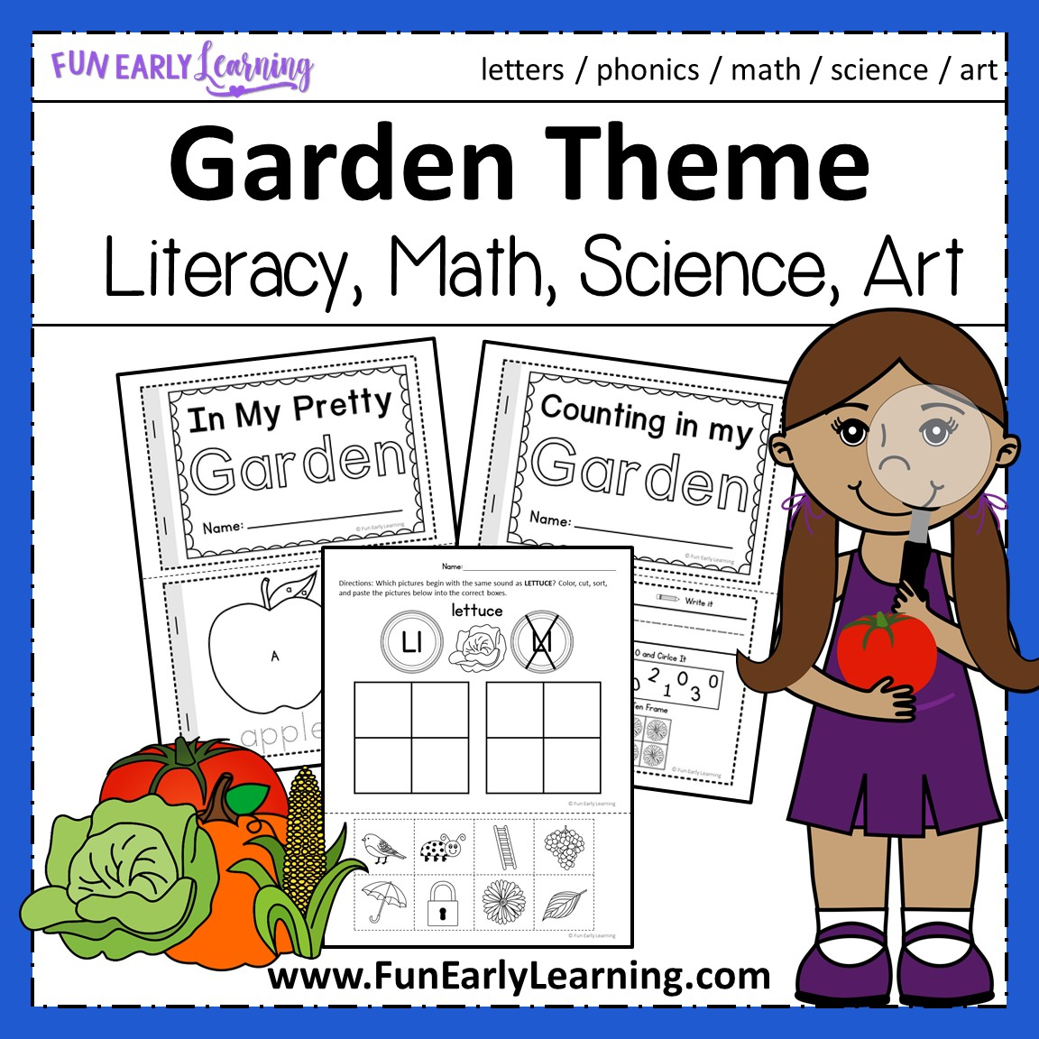 Math, Literacy, Science And Craft Activities