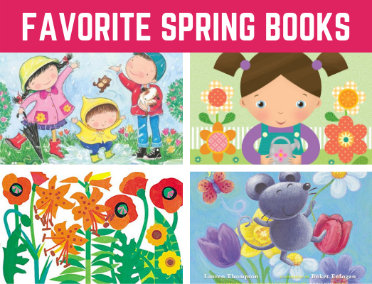 Favorite Spring Books for Preschool and Kindergarten! Fun reading book list for children learning all about spring! #springbooks #funearlylearning