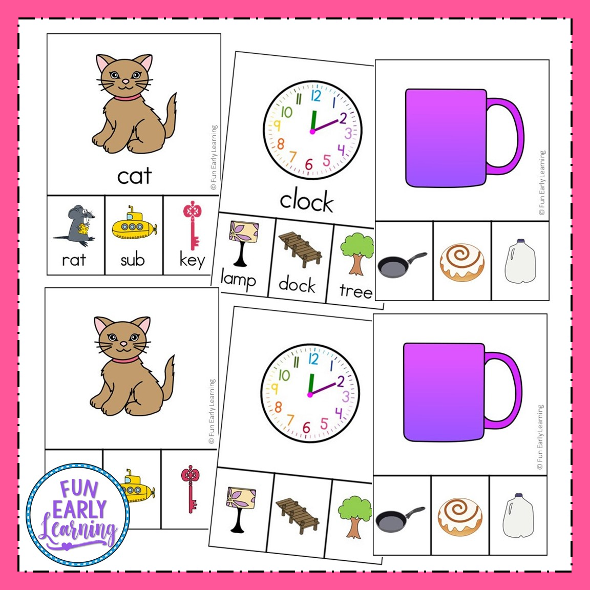 Rhyming Clip Cards Cvc Words And More For Phonemic Awareness