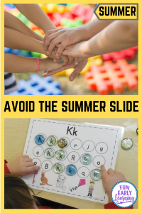 Fun Summer Activities for Kids! Great free activities to do with children at home. Indooor and outdoor activities included to avoid the summer slide. #summeractivities #summerslide #funearlylearning