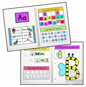 Fun Interactive Notebook for Letters & Sounds! Great hands-on activities and printable for preschool and kindergarten learning letters, phonics and writing.