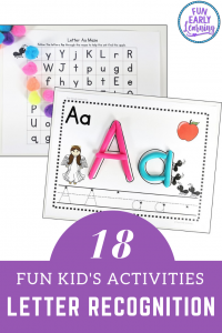Fun Letter Recognition Activities and Letter Identiication Activities. Great for preschool, kindergarten and young children. Hands-on activities and printables! #alphabetactivities #freeprintables #funearlylearning