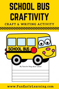 Back to School Craft for Kids! Fun Craftivity with Writing Prompts for preschoolers, kindergarten and elementary! #backtoschool #kidscraft #funearlylearning