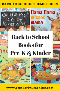 Favorite Back to School Books for Preschool and Kindergarten! Fun reading book list for children learning all about spring! #backtoschool #booklist #funearlylearning
