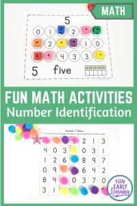 Learning Numbers Activities Binder for Preschool, Kindergarten, and RTI. Fun hands-on math activities, printables, and centers. #numberactivities #mathcenters #funearlylearning