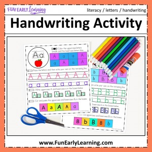 Handwriting Activity Sheets! Fun writing activities for preschoolers and kindergarten. Handwriting practice for letters and pencil grip.