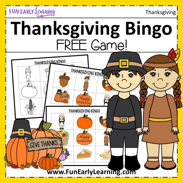 Thanksgiving Bingo Dauber Coloring Pages Free Printable! Fun activity for kids in preschool and kindergarten! #freeprintable #thanksgivingactivity #fallactivity #funearlylearning