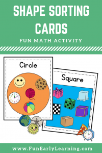Fun Shapes Activity! Shape Sorting Cards for learning to identify 11 shapes. Perfect hands on printable for preschool and kindergarten.