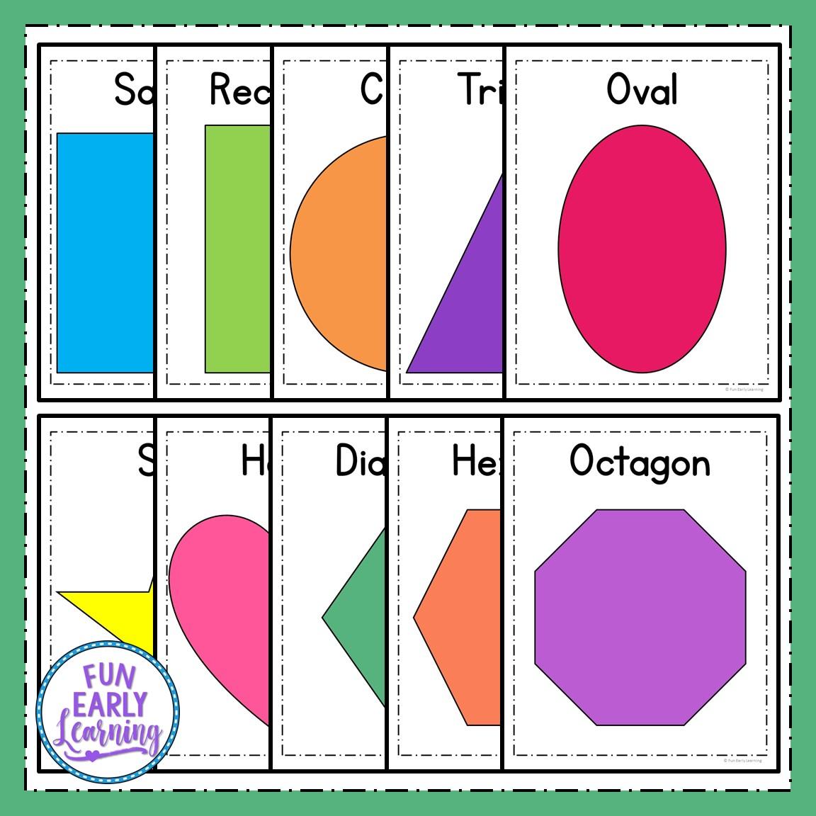 Worksheet Shapes For Kindergarten