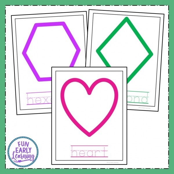Fun Shape Mats Activity! Great shapes activity for preschool and kindergarten! Fun hands on printable. #shapesactivity #printable #funearlylearning
