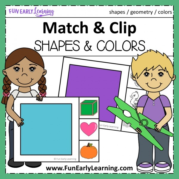 Fun Match and Clip Bundle for learning letters, phonics, numbers, counting, shapes, and colors! Perfect math centers for preschool, prek, kindergarten, and homeschool.