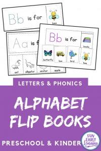 Worksheet for beginning sounds Alphabet Flip Books! Fun beginning sounds worksheet kindergarten and preschool! Teach beginning sounds and letter sound correspondence.