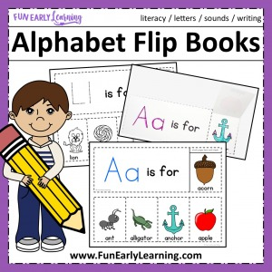 Worksheet for beginning sounds Alphabet Flip Books! Fun beginning sounds worksheet kindergarten and preschool! Teach beginning sounds and letter sound correspondence.
