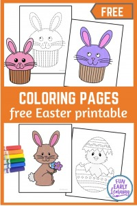 Happy Easter Coloring pages! Easter egg coloring pages printable, Easter bunny, and more! 12 Easter coloring pages free printable.