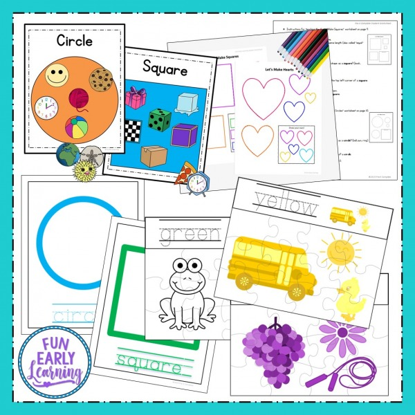Fun Pre-K Activities for at home and in the clasroom. PreK Starter Kit Mega Bundle for leaning letters, numbers, shapes, and colors in preschool and kindergarten. Fun hands on activities and ideas!