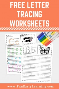 Free Letter Tracing Worksheets for A-Z Handwriting Practice! Fun free handwriting worksheets printable for preschool and kindergarten.