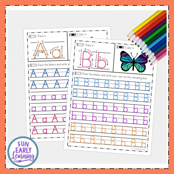 Free Alphabet Tracing Worksheets for A-Z Handwriting Practice! Free letter tracing worksheets that are great for preschool and kindergarten.
