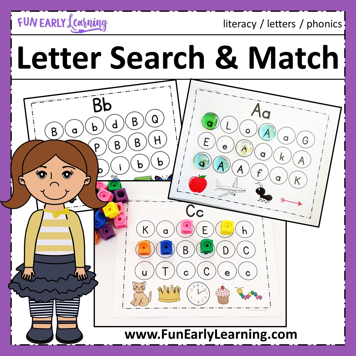 letter search and match fun early learning