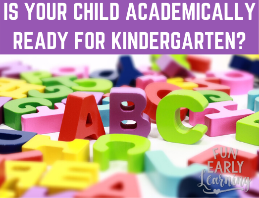 Is your Child Academically Ready for Kindergarten? This series of articles walks you through how to help your child prepare for kindergarten and beyond with kindergarten readiness skills!