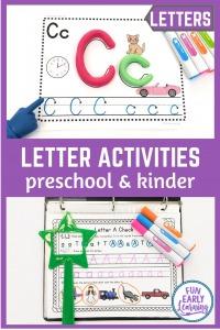 Fun Letter Activities for Preschoolers and Kindergarten! 6 Hands-on learning letter activities preschool, prek, kindergarten, and RTI. Fun letter a activities, letter b activities, letters a-z.