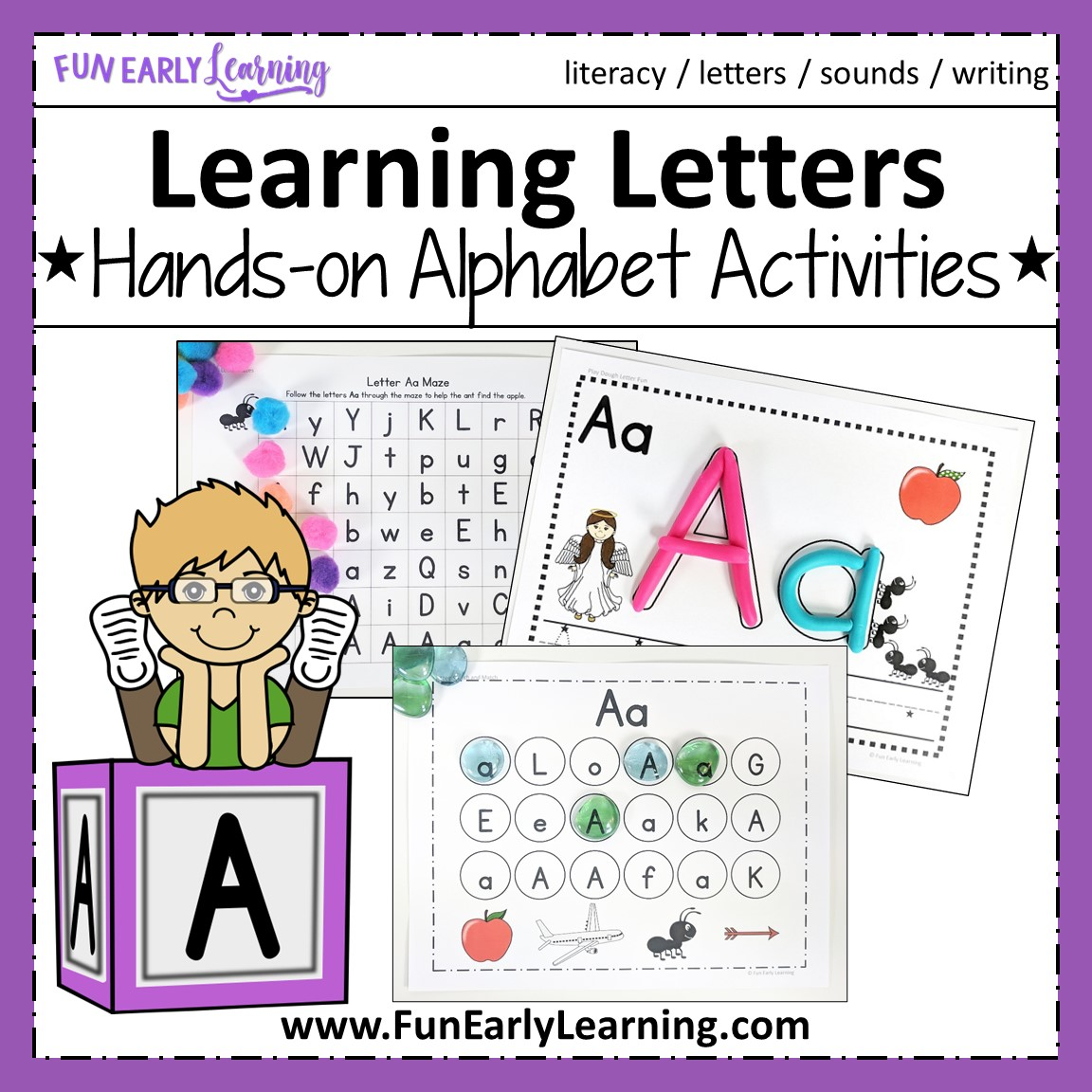 Learning Letters Hands-on Activities Binder For Preschool