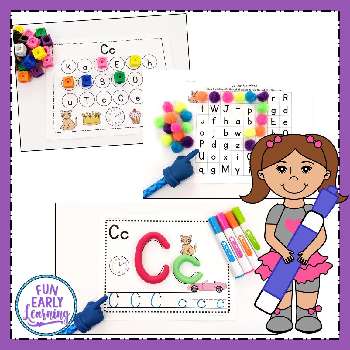 Learning Letters Hands-on Activities Binder for Preschool ...