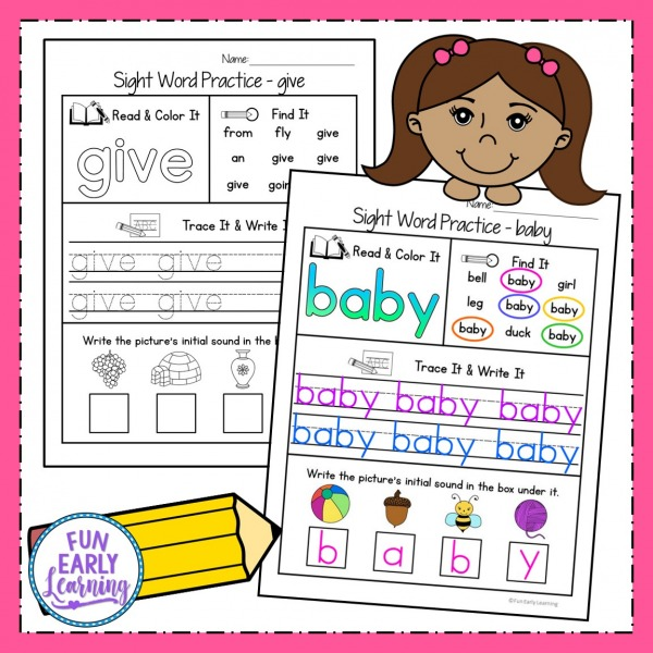 Dolch Sight Word Activities Bundle! Perfect for Pre K, Kindergarten, First Grade, 2nd Grade, and Third Grade. #sightwords