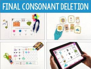 How to treat final consonant deletion with minimal pairs, final consonant deletion activities, words, worksheets, and more!