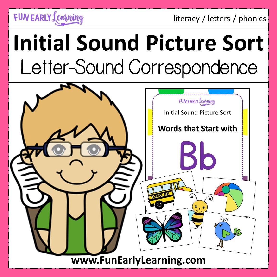 Initial Sound Picture Sort - Phonics Activity