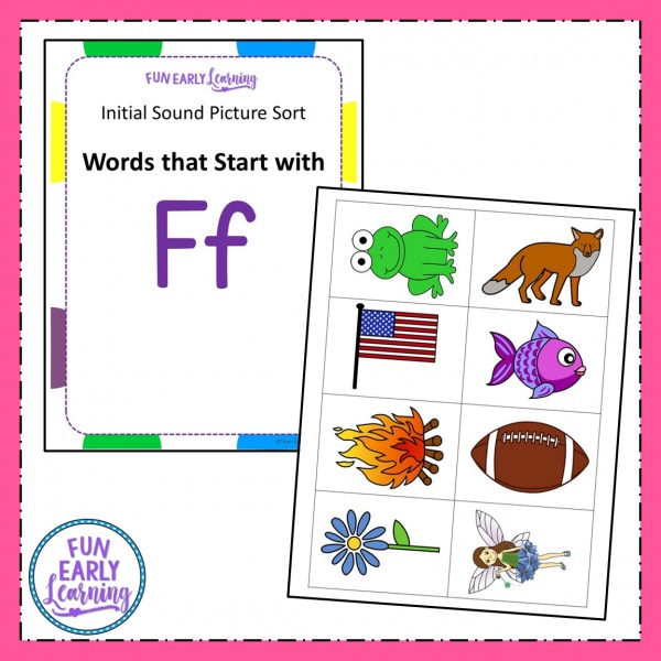 Fun Beginning Sound Activity! Initial Sound Picture Sort ! Phonics activity for learning beginning sounds, and letter-sound correspondence! Great for preschool and kindergarten beginning reading skills!