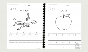 Student workbook for letter identification, letter writing, and beginning sound correspondence. Included in our Letters and Phonics Alphabet Curriculum.