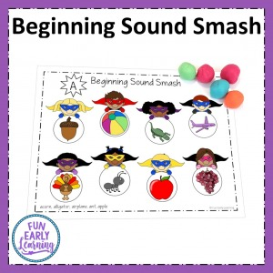 Fun hands on activity for learning beginning sounds and letters sound correspondence. Phonics center for preschool and kindergarten.