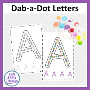 Dab-a-Dot Letters Alphabet Activity for learning letter identification, letter formation, and writing. Perfect no prep printable for preschool and kindergarten.