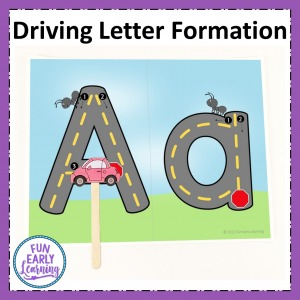 Letter Formation Activities for learning the alphabet. Fun center activity for preschool and kindergarten.