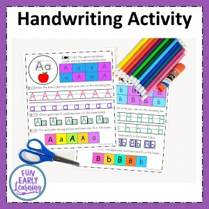 Alphabet Writing Practice hands on activity for writing uppercase and lowercase letters. Perfect for preschool and kindergarten.