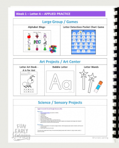 Fun alphabet art projects. The Letters and Phonics Alphabet Curriculum includes 3 different art projects to reinforce letters.