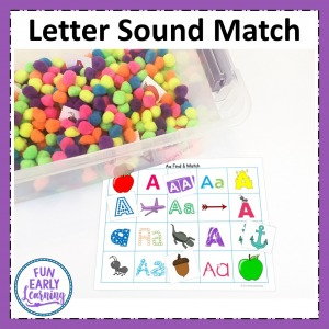 Letters and Phonics Alphabet Curriculum center activity. Letter Sound Find and Match hands on activity for letter identification and letter sounds.