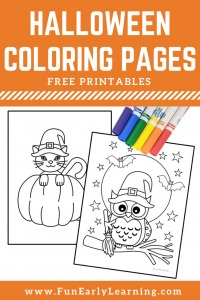 Free Halloween coloring pages printable.  Fun Halloween coloring pages for kids and all ages.