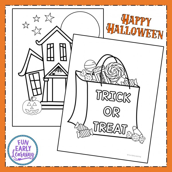 Free Halloween Printable Coloring pages. 8 pages including Halloween coloring pages pumpkins and Halloween coloring pages cat.